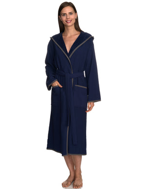TowelSelections Women's Robe, Cotton Lined Hooded Terry Bathrobe