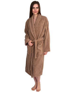 TowelSelections Women's Organic Cotton Bathrobe Terry Shawl Robe