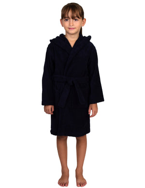TowelSelections Girls Pool Cover-up, Kids Hooded Cotton Terry Beach Cover-up