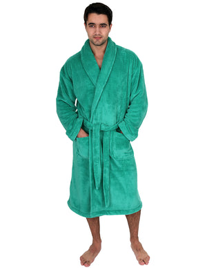 TowelSelections Men's Super Soft Plush Bathrobe Fleece Spa Robe