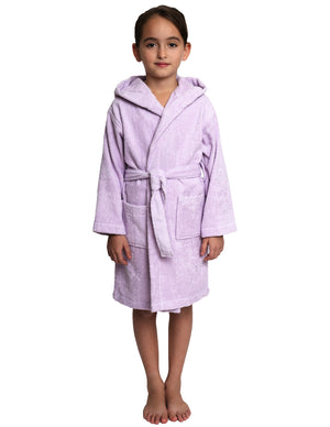 TowelSelections Girls Robe, Kids Hooded Cotton Terry Bathrobe