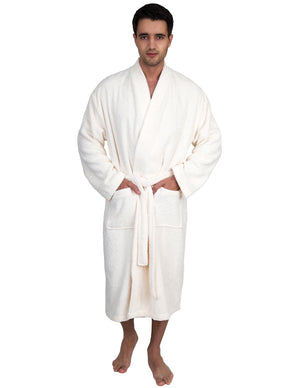 TowelSelections Men's Robe, Organic Cotton Terry Kimono Bathrobe