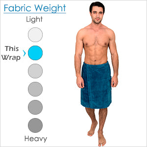 TowelSelections Men's Wrap, Shower & Bath, Water Absorbent Cotton Lined Fleece