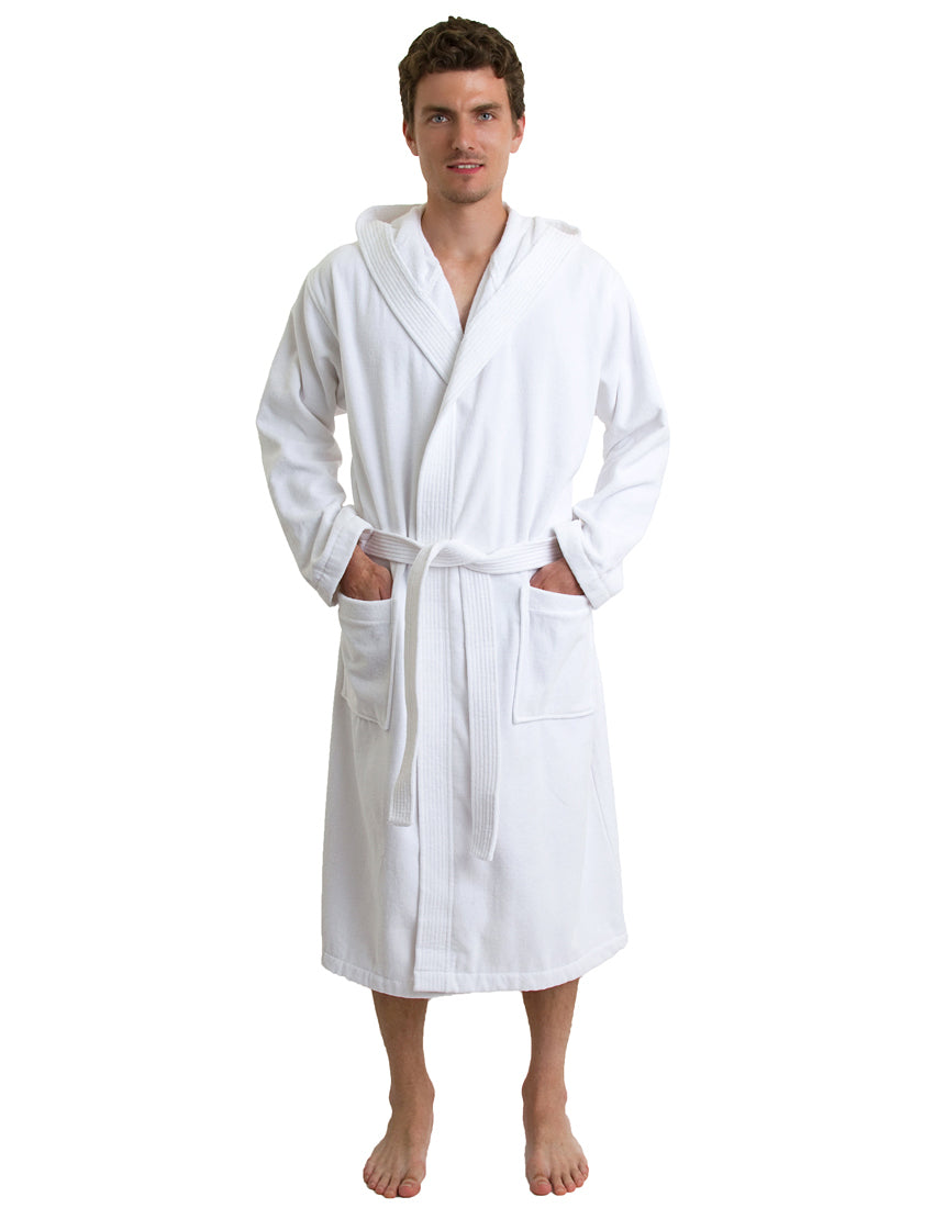 TowelSelections Men's Hooded Cotton Robe, Terry Cloth Luxury Spa Bathrobe