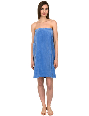 TowelSelections Women's Wrap, Shower & Bath, Water Absorbent Cotton Lined Fleece