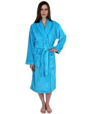 TowelSelections Women's Super Soft Plush Bathrobe Fleece Spa Robe