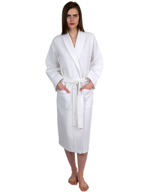 TowelSelections Women's Waffle Weave Robe Shawl Spa Bathrobe