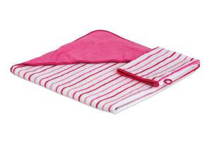 TowelSelections Turkish Cotton Hooded Terry Velour Baby Bath Towel and Glove Set