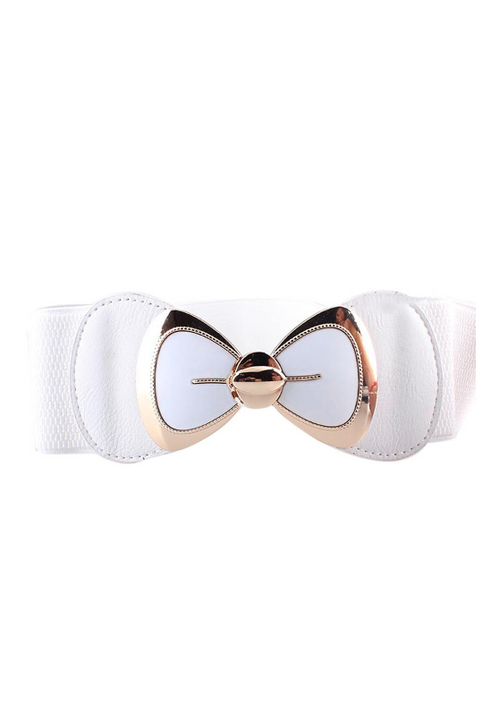 Waist Belt | Pinup Bow | White