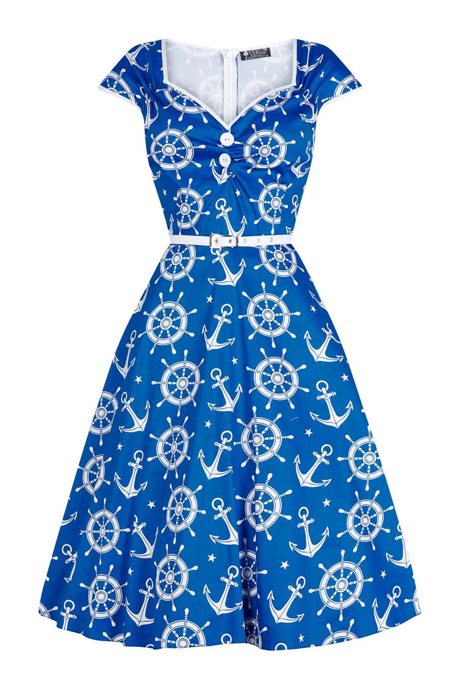 Nautical Print Isabella Dress