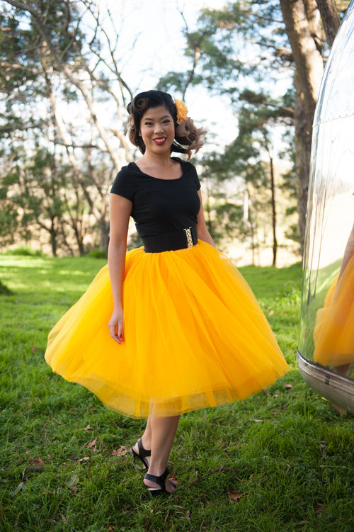 Nostalgia Now - Yellow Tutu featured with Classic Belt