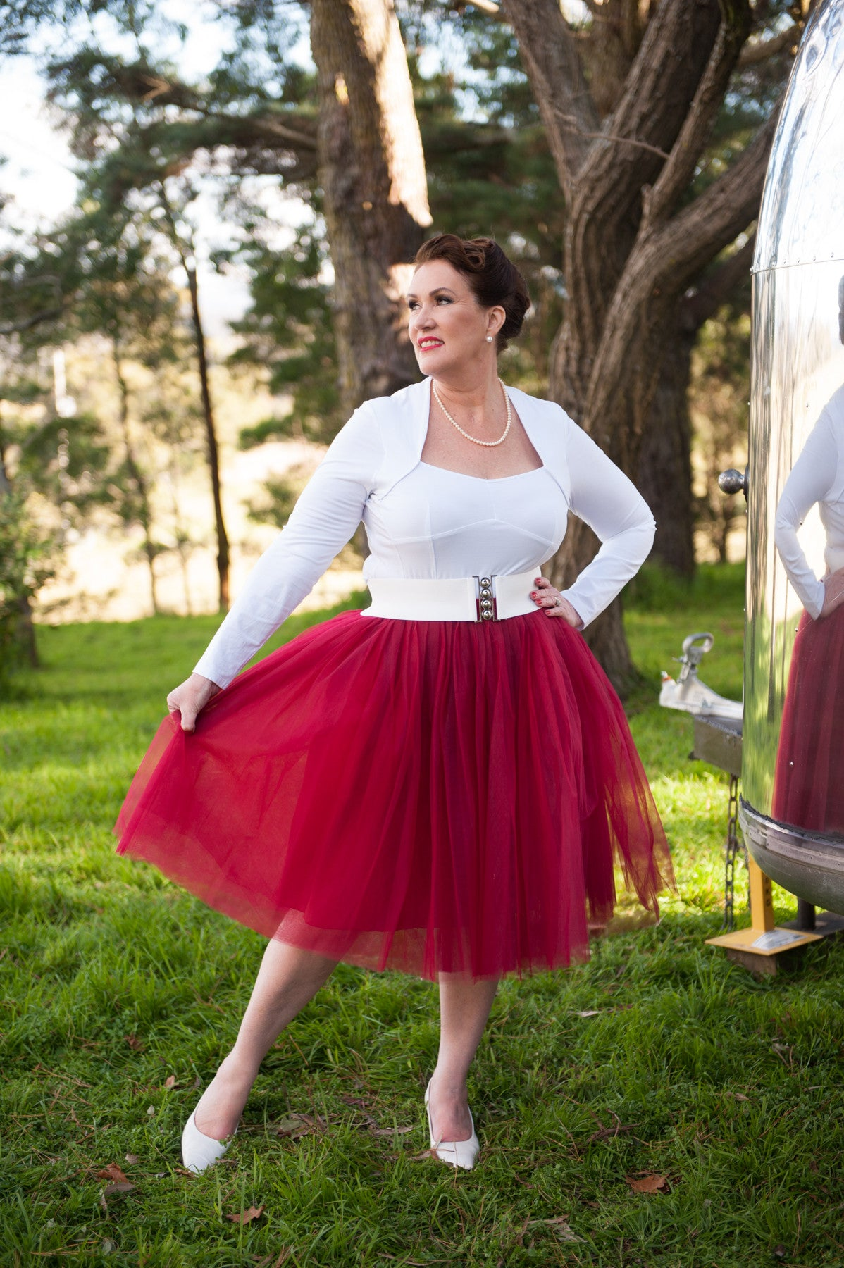 Nostalgia Now - Merlot Tutu paired with Classic Belt