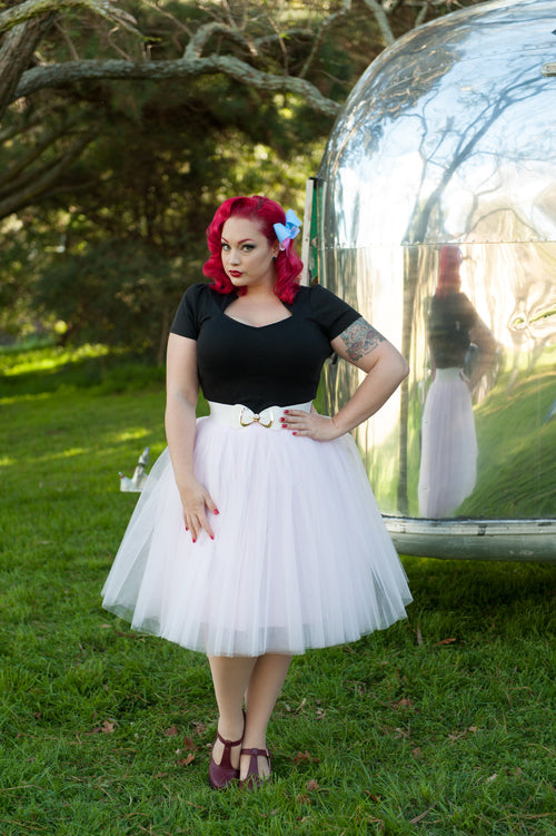 Pinup Bow Waist Belts: White