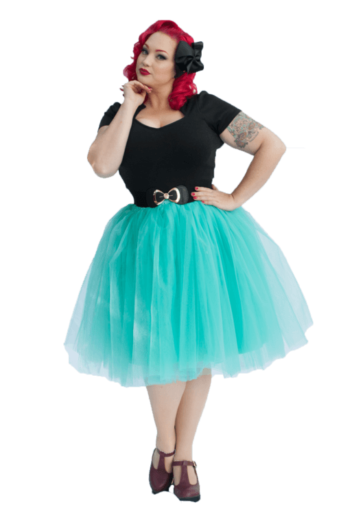 ec779e1f50b4 Adult Pinup Tutu Skirt | Mermaid Green | Nostalgia Now