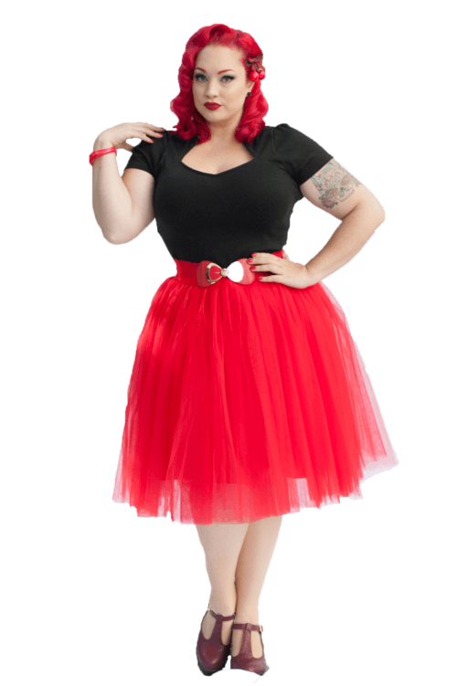 f032d6ce6fe2 Adult Pinup Tutu Skirt | Corvette Red | Nostalgia Now