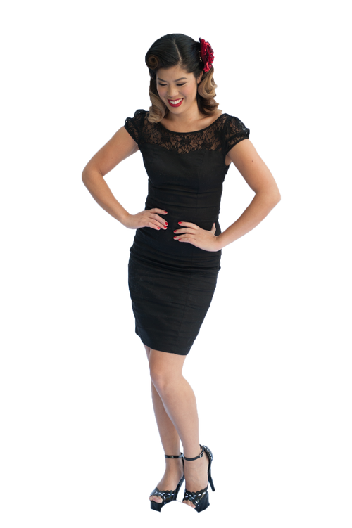 Pencil Dress | Lace | Black | 12