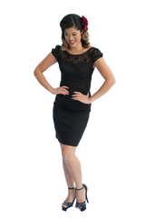 Pencil Dress | Lace | Black | 8