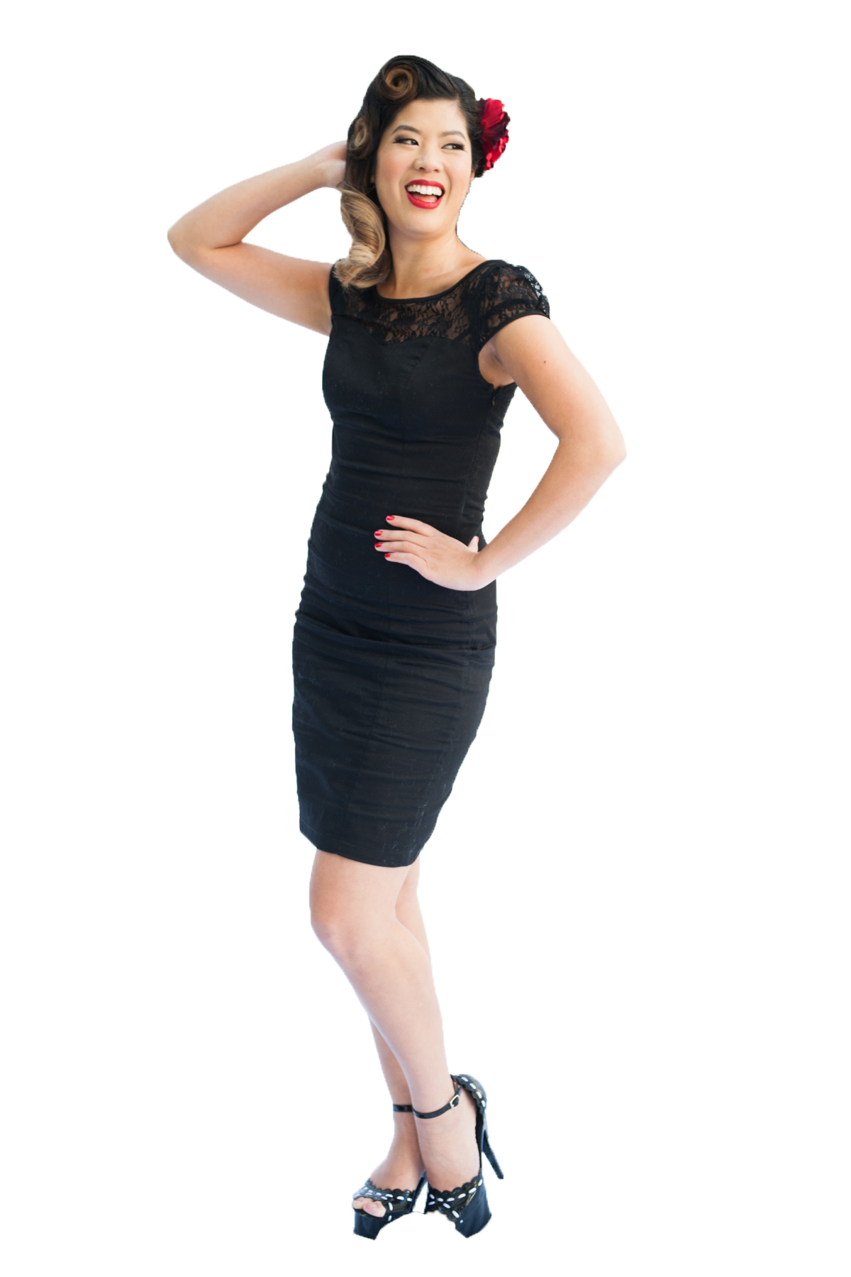 Pencil Dress | Lace | Black | 16