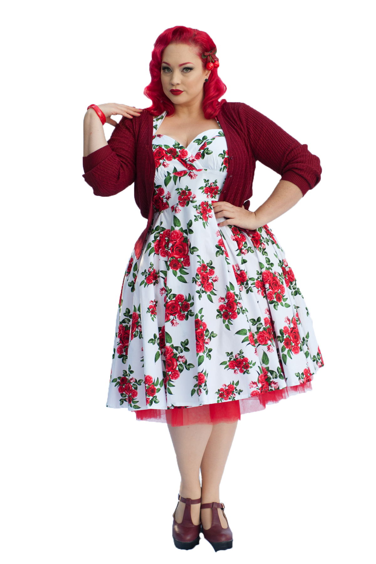 0ed45b6becb3 Pinup Cannes 50s Dress | Rose | White | Hell Bunny | Nostalgia Now