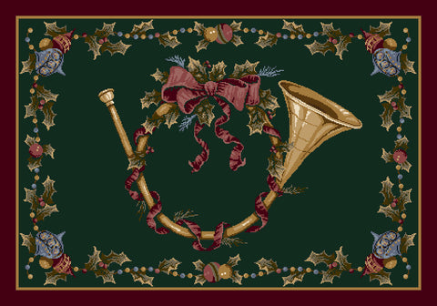 Holiday French Horn Rug