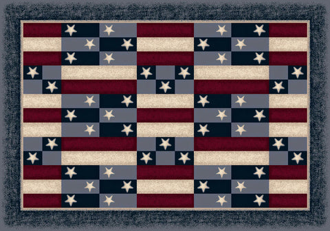 Seasonal America Patchwork Rug