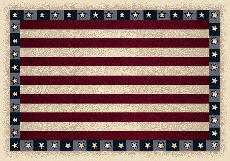 Seasonal Stars & Stripes Rug
