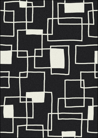 Black & White Offbeat Rug