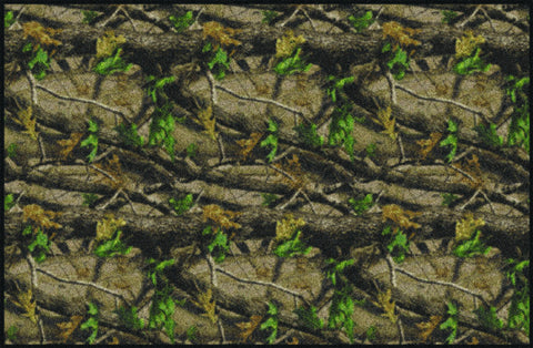 Realtree Hardwood Green Solid Camo Rug