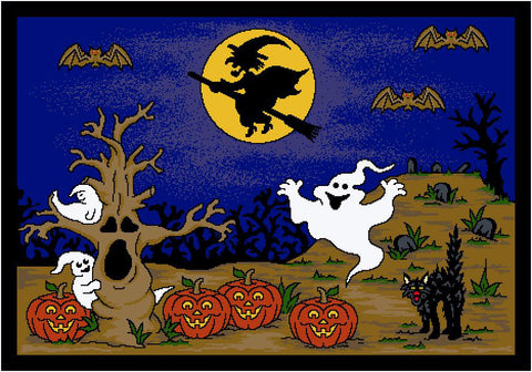 Seasonal Halloween Hallow's Eve Midnight Rug
