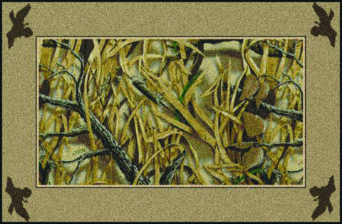 Realtree Wetlands Solid Border Rug