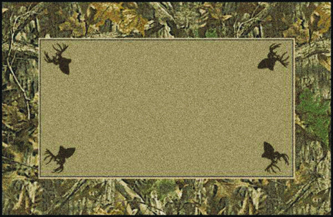 Realtree Timber Solid Center Rug