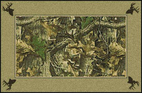 Realtree Timber Solid Border Rug