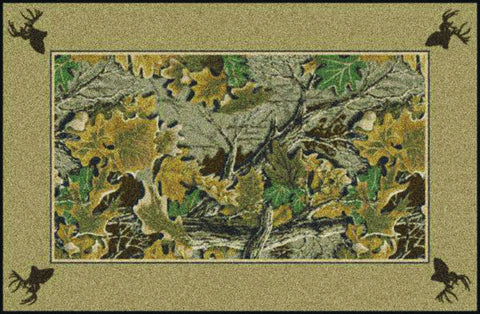 Realtree Advantage Solid Border Rug