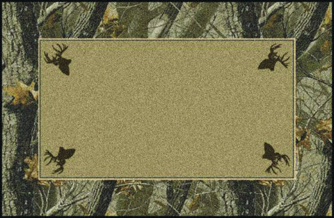 Realtree Hardwoods Solid Center Rug