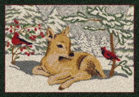 Holiday Deer Rug