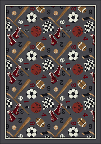 Theme Rugs 2 Good Sport Field Rug