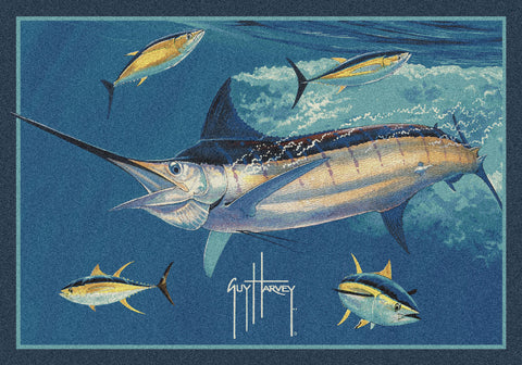 Guy Harvey Marlin Tuna Rug