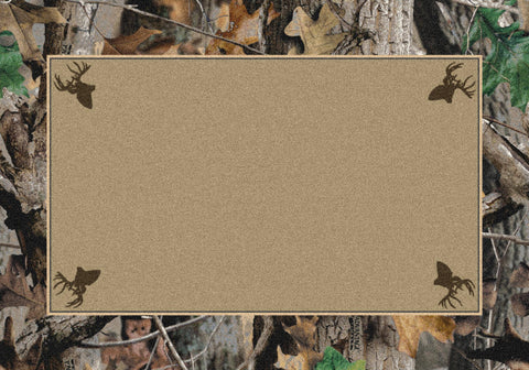 Realtree New Timber Solid Center Rug
