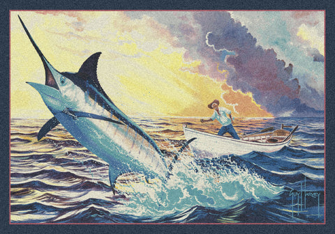 Guy Harvey Old Man and the Sea Rug