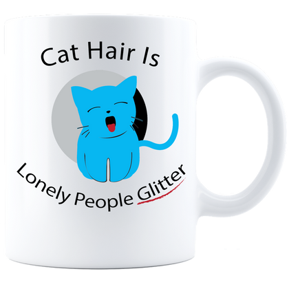 Cat Hair Coffee Mug - White