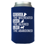 Rescue Animals Can Koozie