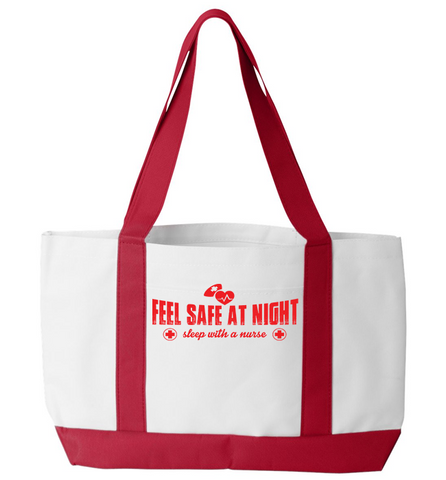 Sleep With A Nurse Tote Bag
