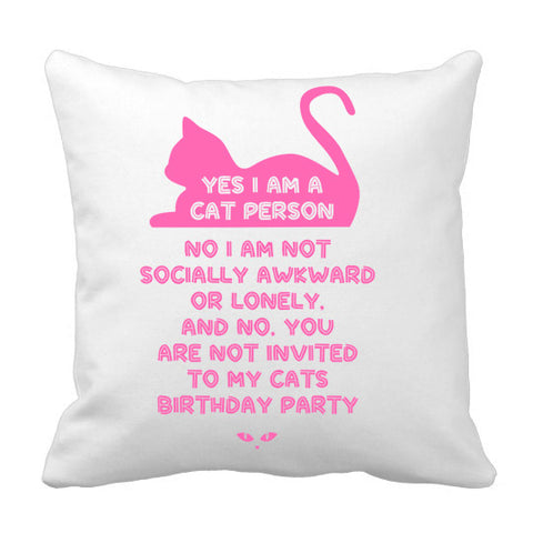 Cat Lady Pillow - Stuffed