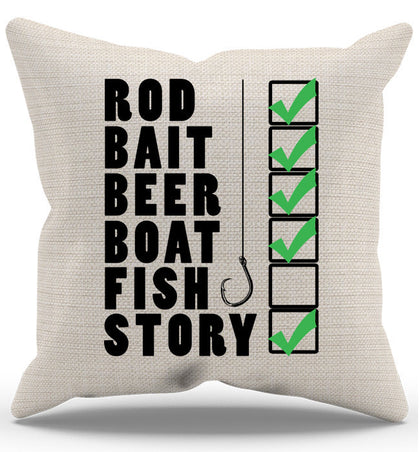 Fish Checklist Pillow Case