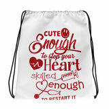 Nurse Cute Drawstring bag