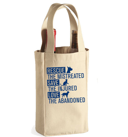 Rescue Animals Wine Bag