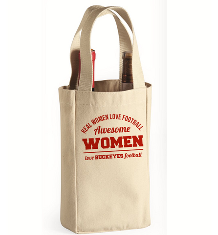 Awesome Buckeyes Woman Wine Bag