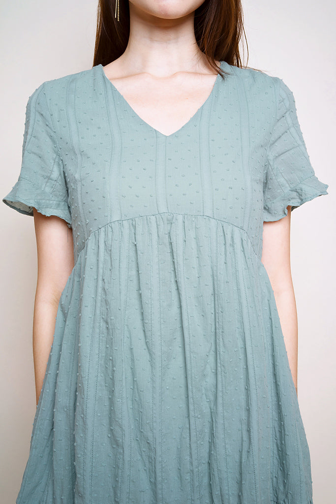 Eve Crochet V-neck Dress - Jade [S/M/L/XL]