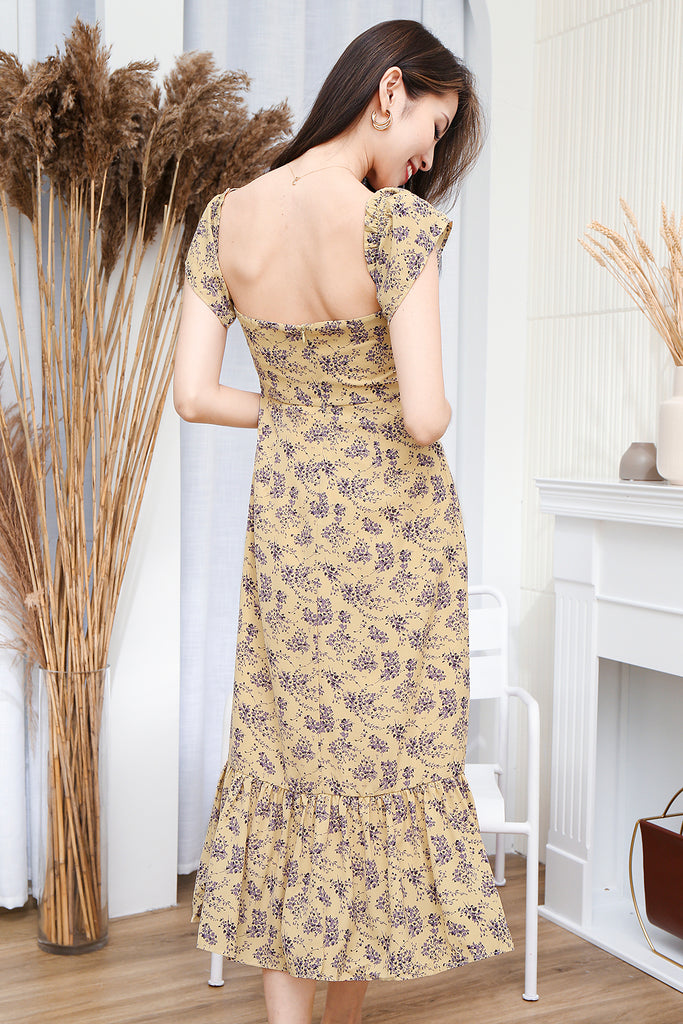 Abigail Two-way Floral Dress - Yellow [XS/S/M/L/XL]
