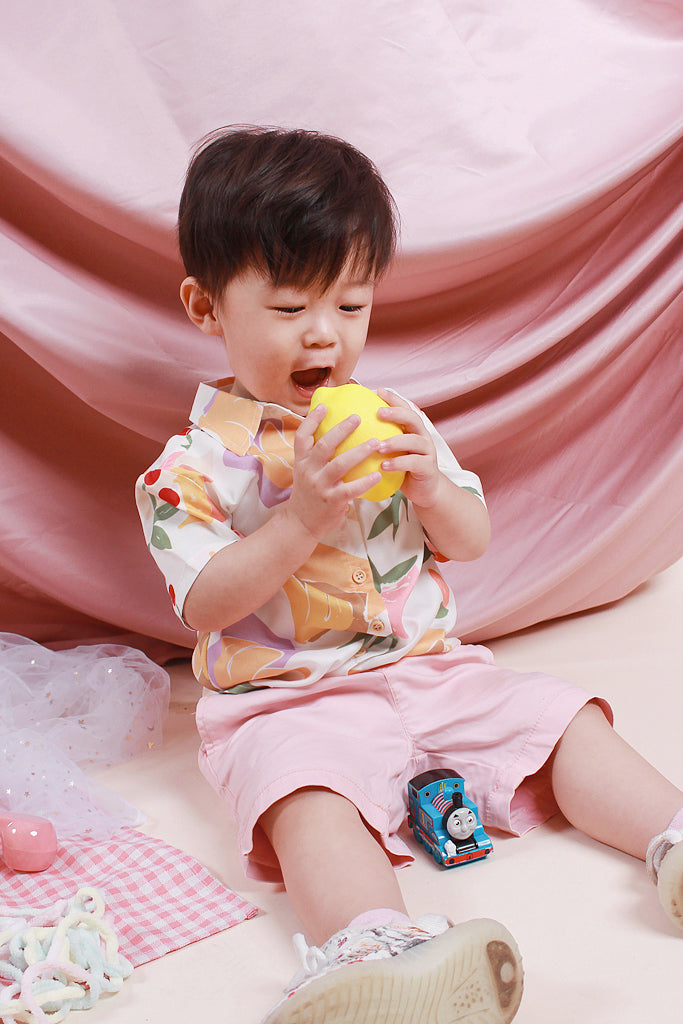 Paige Kids Fruity Abstract Shirt - White [18M/2Y/3Y/4Y/5Y]